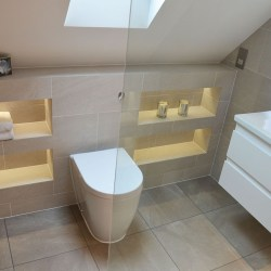 toilet and basin luxury shower room